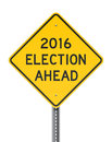 Election 2016 Roadsign Royalty Free Stock Photo