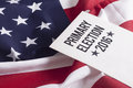 Election voter registration application for presidential Royalty Free Stock Images