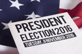 Election voter registration application for presidential Royalty Free Stock Photo