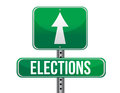 Elections road sign Royalty Free Stock Image