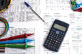 Electrial Calculations Royalty Free Stock Photo