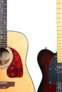 Electric and acoustic guitar Royalty Free Stock Photo