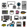 Electric appliances products file Stock Photos