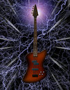 Electric Bass Guitar Stock Photography