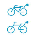 Electric bicycle icons Stock Photo