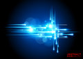 Electric blue background abstract with glowing bolts vector illustration Royalty Free Stock Image