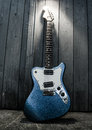 Electric blue guitar Royalty Free Stock Photo