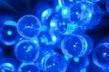 Electric blue LED background Royalty Free Stock Image