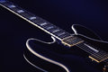 Electric Blues Guitar in Blue Royalty Free Stock Photo
