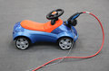 Electric bobby car toy car for children Stock Photos