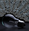 Electric bulb with creativity words Stock Photo