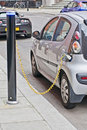 Electric Car Charging Stock Photos