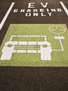 Electric Car Charging Bay Royalty Free Stock Images