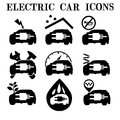 Electric car icons