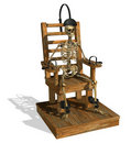 Electric Chair with Skeleton Royalty Free Stock Image