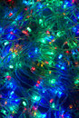 Electric christmas lights background, garland Royalty Free Stock Photography