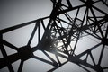 Electric/Communication Pylon From Below Royalty Free Stock Photo