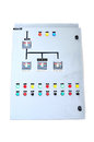 Electric control box isolate on white background Stock Image