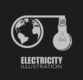 Electric design over black background vector illustration Stock Photo