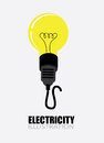 Electric design over gray background illustration Royalty Free Stock Photography