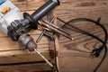 Electric drill a still life with in workroom Stock Photography