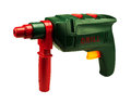 Electric drill toy in white background Stock Image
