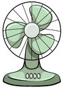 Electric fan Royalty Free Stock Photo