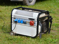 Electric generator mobile fuel for power Royalty Free Stock Photo
