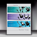 Electric guitar banners horizontal or flyers in green purple and blue Royalty Free Stock Photography