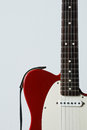 Electric guitar detail fender telecaster in red rosewood finish Stock Photos