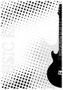 Electric guitar dots poster background Stock Image