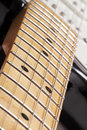 Electric guitar fretboard Royalty Free Stock Photo