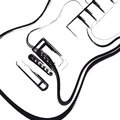 Electric Guitar hand drawn Royalty Free Stock Photo