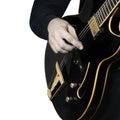Electric Guitar hands closeup Royalty Free Stock Photo