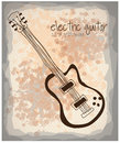 Electric guitar icon over pattern background vector illustration Stock Image