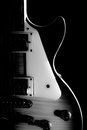 Electric guitar isolated on a black background. Royalty Free Stock Photo
