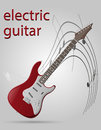 Electric guitar musical instruments stock vector illustration