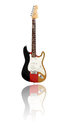 Electric guitar with reflection german flag white background design Stock Image
