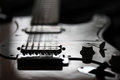 Electric guitar rock around the clock Royalty Free Stock Photo