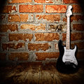 Electric guitar in the room Stock Images