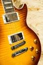 Electric guitars a close up vertical shot of a guitar Stock Photos