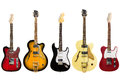 Electric guitars isolated on white background Royalty Free Stock Photo