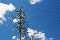 Electric high voltage post Stock Images
