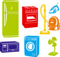 Electric home devices (vector) Royalty Free Stock Image