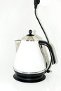 Electric kettle modern on white Royalty Free Stock Image