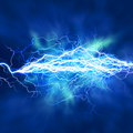 Electric lighting effect Stock Image