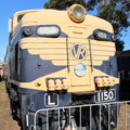 Electric locomotive l was built by english uk in it was a mainline passenger and goods on the gippsland line Stock Images