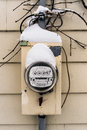 Electric meter box Stock Images