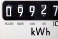 Electric meter close-up Royalty Free Stock Photo