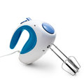 Electric mixer blue isolated on white background with clipping path Stock Photo
